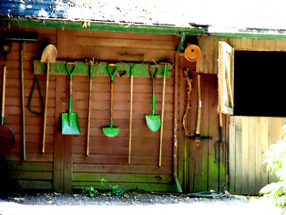Green Shovel,Green Spaid,Green Rake,Green Tools,Green Home Tools,Garden Equipment